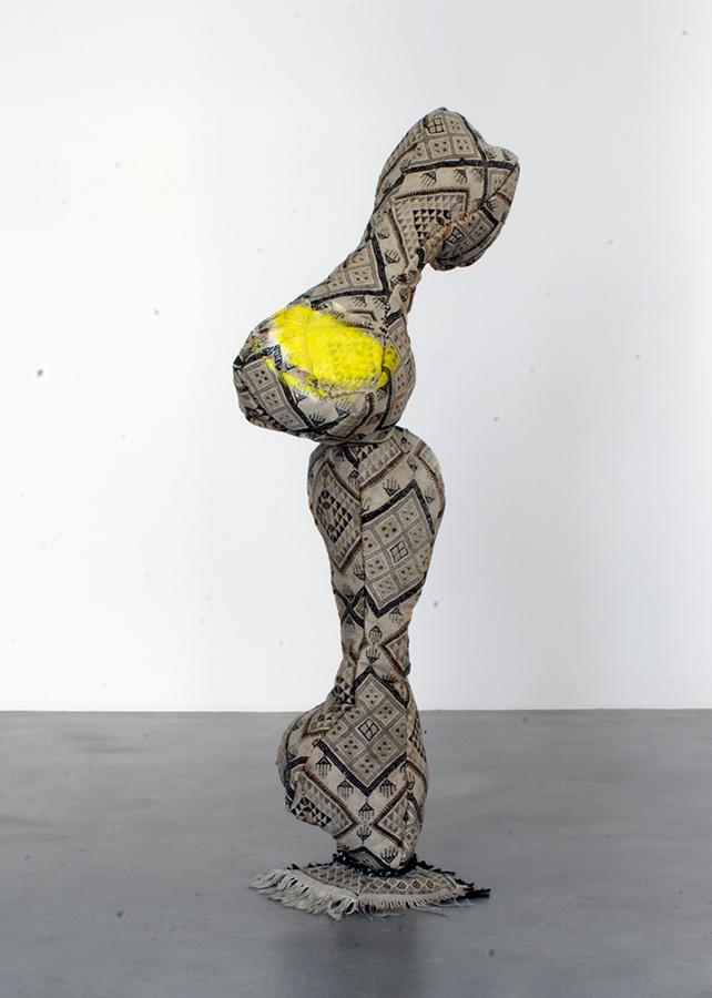 o.T.,gefundener Teppich, Akryl, Anna Fasshauer, 2011